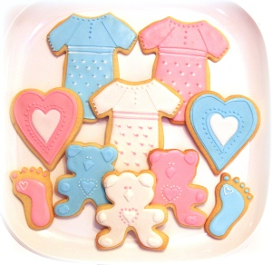 Baby Shower Cookies blue and pink