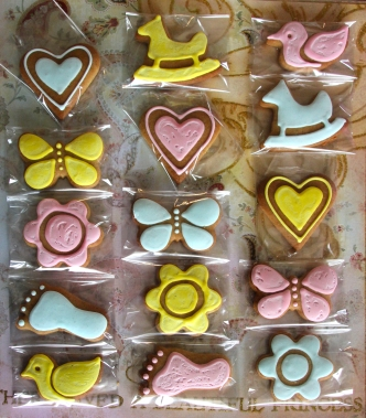 Pastel Baby Shower Cookies