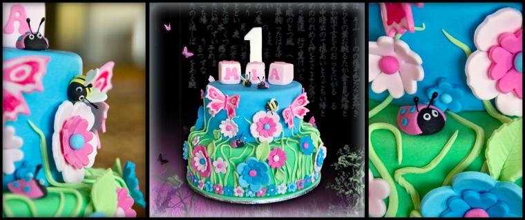 Butterfly Garden Cake