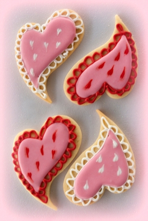 Contemporary Heart Cookies