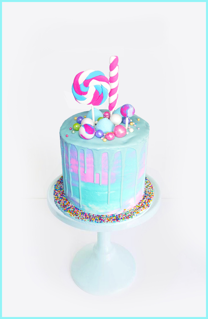 Drip Cake topped with Lollies