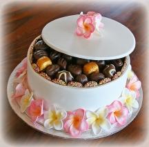 White Frangipani cake