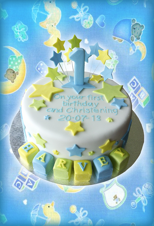 Harvey Christening Cake