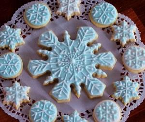 Large Snowflake Cookies
