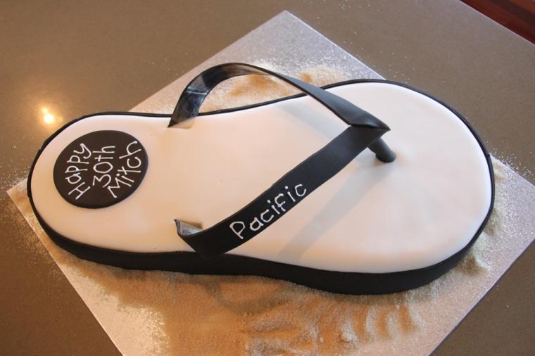 Black & White Flip Flop Cake