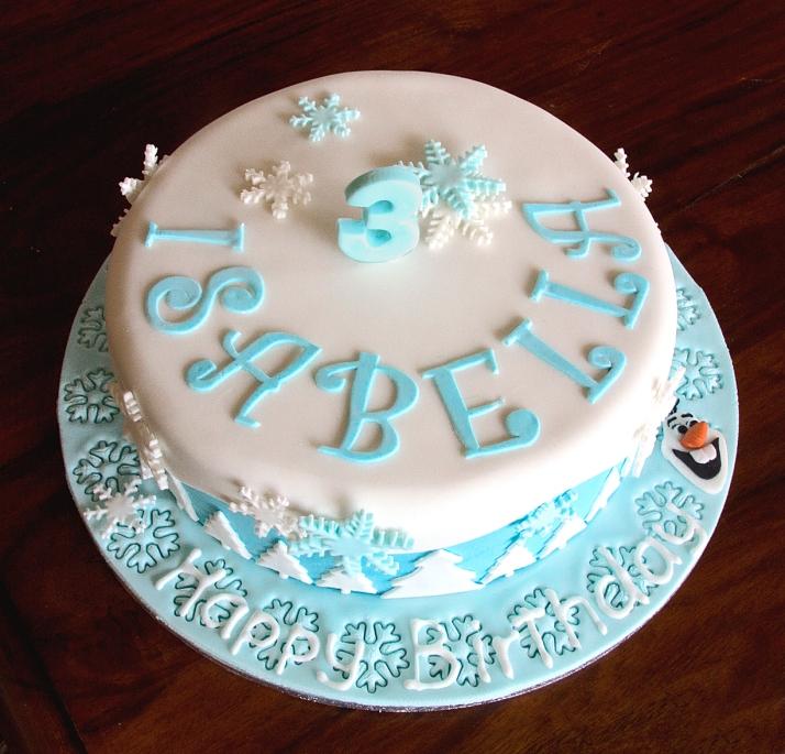 Frozen Olaf Flat cake