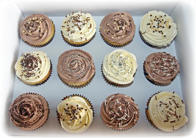 One Dozen Vanilla cupcakes
