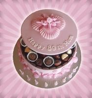 Pink Shell Chocolate Box Cake