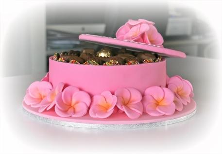 Pink Frangipani Cake