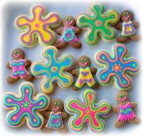 Psychedelic Gingerbread men