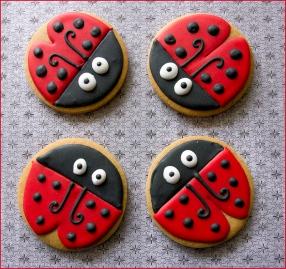 Red ladybugs