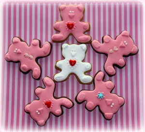 Pink and White Teddies