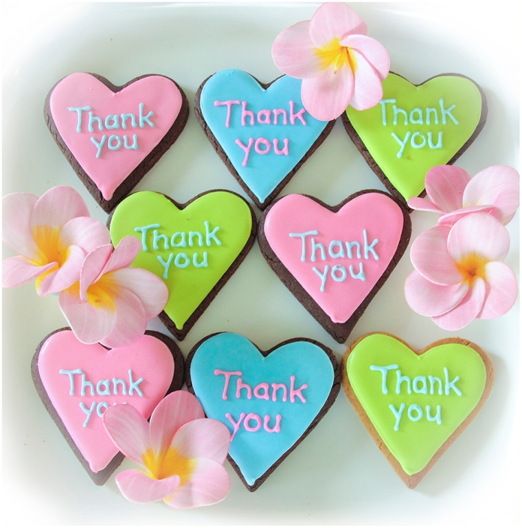 Thank You Iced Cookie Favours