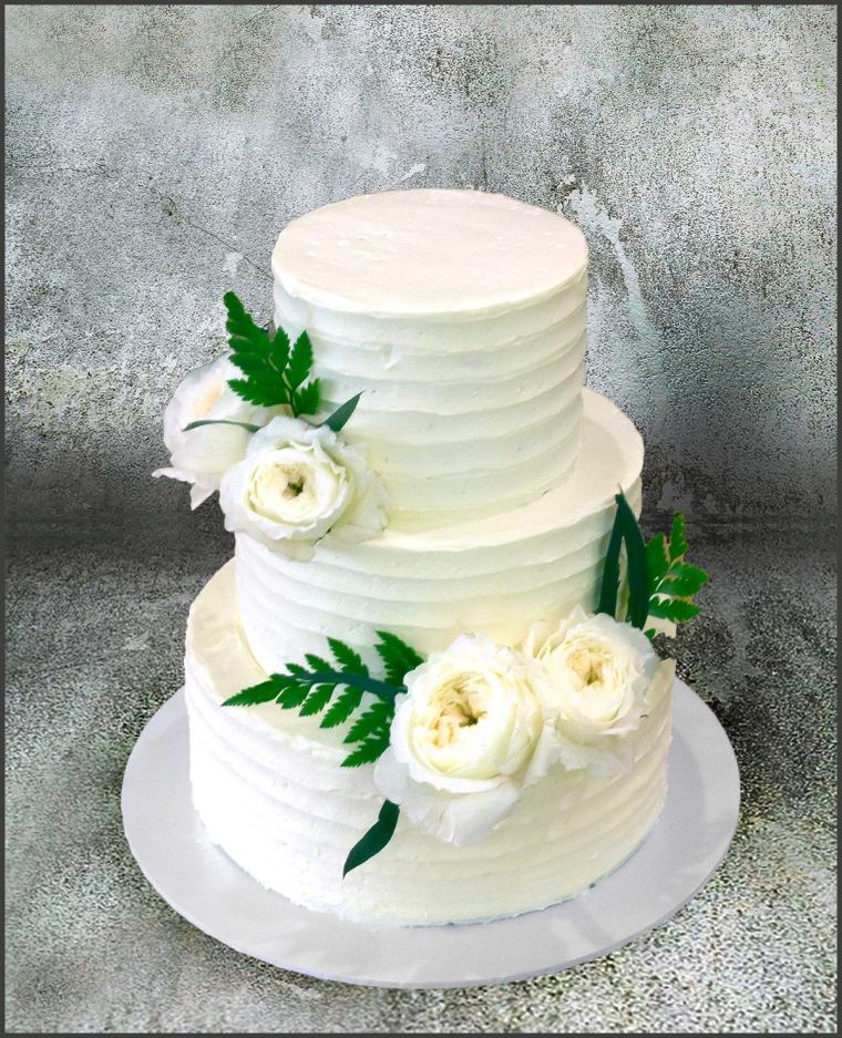 Flower and Fern Cake