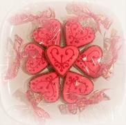 Peach Heart cookie