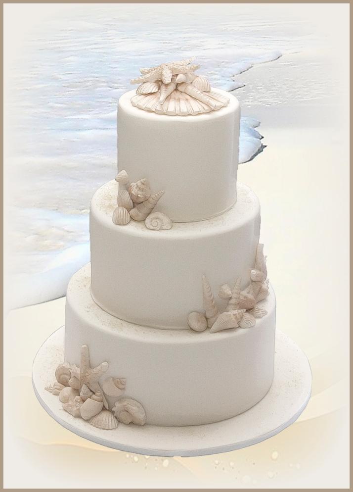 Beach Cake 3 tier