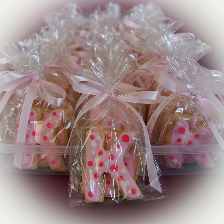 Initials Wedding Favour Iced Cookies