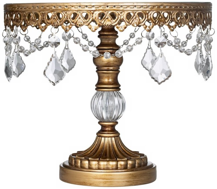 Mirror Lace Gold Cake Stand 12