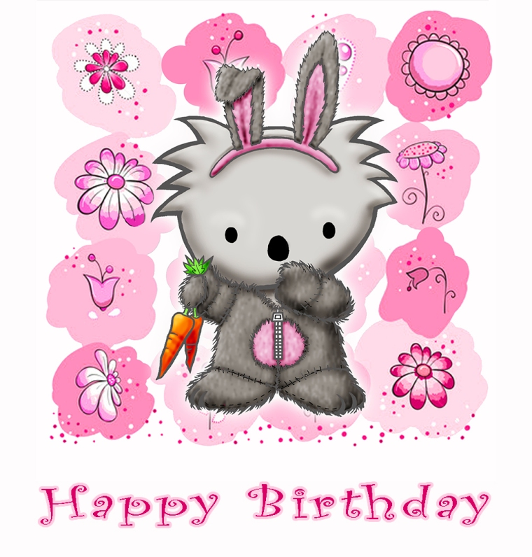 Bunny Happy Birthday pink