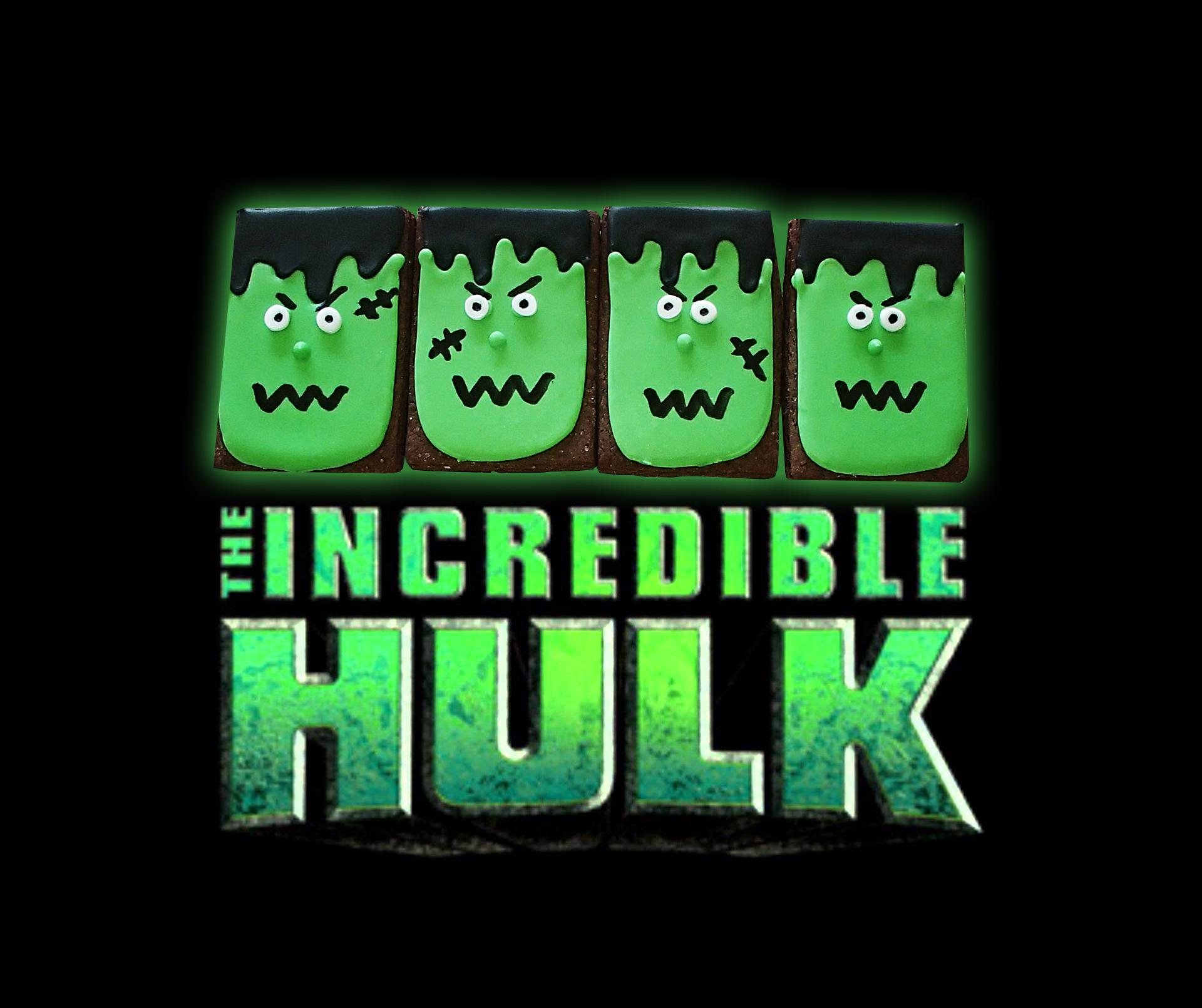 The Incredible Hulk Iced Cookies