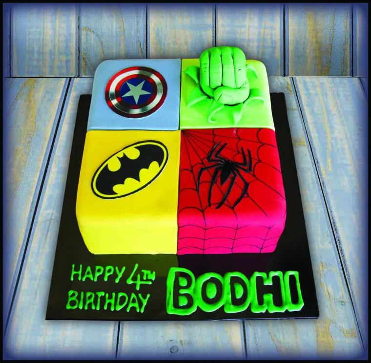Superhero square cake.jpg