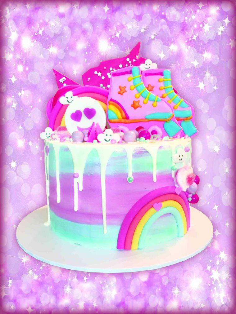 Rainbow Skate Cake